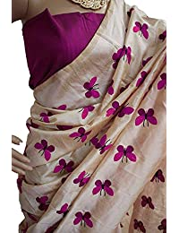 Clothsfab Women's Chanderi Cotton Silk Saree With Blouse Piece (Jdr-New Batarfly )