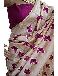 Clothsfab Women's Chanderi Cotton Silk Saree With Blouse Piece (Jdr-New Batarfly )