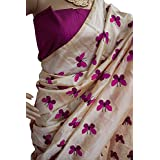 Harikrishnavilla Women's Latest Designer Party Wear New Collection Chanderi Cotton Bollywood Trendy Elegant 2018 Latest Designe Saree For Women With Bangalore Silk Unstitched Blouse ( Multi-Colour Butterfly, Free Size) - B07BJHVNY6