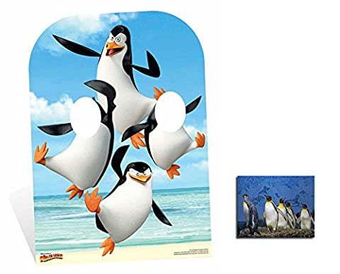 Fan Pack - The Madagascar Penguins Child Sized Stand-In 2D Cardboard Standup / Cutout Plus 20x25cm