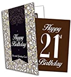 Happy 21st Birthday - Chocolate Greeting Card