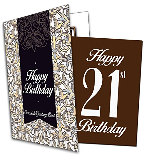 Price comparison product image Happy 21st Birthday - Chocolate Greeting Card