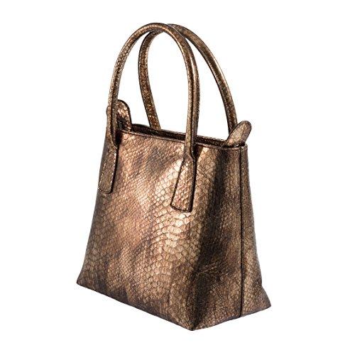 Tilla...Le Borse , sac à main femme bronzo scuro