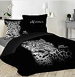 Bettbezug Panther schwarz 220x 240cm + 2Kissenbezüge
