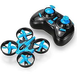 JJRC Mini drone quadricoptère avec télécommande pour débutant (H36) pour mixte enfant Bleu
