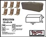 Raffles Covers RSB1255050 Tragetasche für 6 Hochlehner Auflagen Aufbewahrungstasche/Cover für Loungekissen, Tragetasche für Gartenmöbel Auflagen, Aufbewahrungstasche für Hochlehnerauflagen