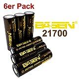 BASEN 21700Batterie 4000mAh haute puissance 30A 3,7V Batterie Flat Top. très haute capacité. 6 Stück