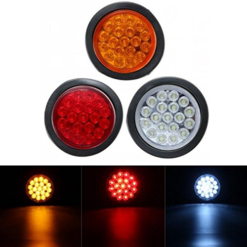ILS - Round Reflector Rear Tail Brake Stop Marker Light Indicator for Truck Trailers (Tail Lense Trailer Light)