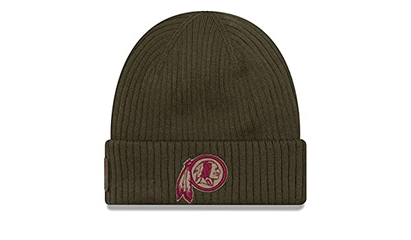 ae2b6ad6274 New Era NFL Washington Redskins 2018 Salute to Service Sideline Knit   Amazon.co.uk  Sports   Outdoors