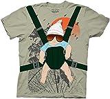 Hangover Alan Baby Bjorn With Graphic Human Tree Dark Khaki Erwachsene Kostüm T-Shirt (Large)