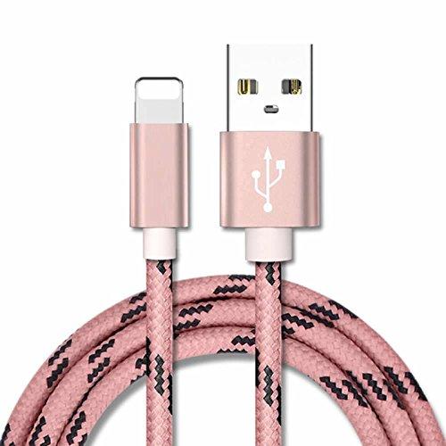 Für iPhone Kabel, superior ZRL® Metallgeflecht Draht Sync Daten Ladegerät USB Kabel für iPhone X/8/8 plus/7/7 plus/6er/6er plus/6/6Plus/5S/5C/5, iPad/iPod (Ipod Mini Aufladen, Schnur)
