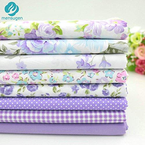 Unory (TM) 8pcs / lot 40cm * 50 centimetri di cotone viola (2) tessuto di cotone stampato per cucire Ricamo bambola di stoffa patchwork quilting Telas al patchwork