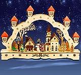 Sonderpreis Schwibbogen, Kirche, innenbeleuchtet, Lichterbogen, LED, 3D, Weihnachten