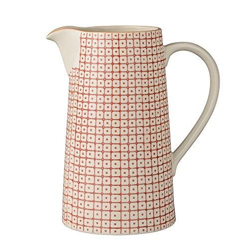 Bloomingville Carla Carafe eau pichet Vase Porcelaine Rouge