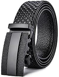 Sceneruo Cinturones de los hombres de alta calidad de lujo correa de  cinturón de cuero genuino retro vintage hebilla… be18a6c6fe5d