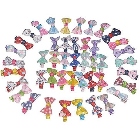 45 colori del nastro del Grosgrain clip di capelli dell'arco, archi dei capelli per le ragazze, mollette per neonate - Grosgrain Clip Arco