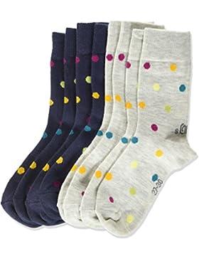 s.Oliver Socks Mädchen Socken, 4er Pack