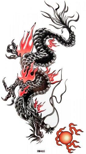 Faux tatouages étanches et de sueur mâle de dragon totem