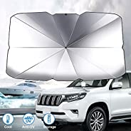 GOMMLE Foldable Car Windshield Sunshade Umbrella, Anti-UV and Sun Protection Reflector Umbrella for Car Truck