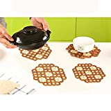 Pack of 4 Natural Bamboo Place Mats, Din...