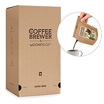 Coffee-Brewer Desk Café Refill Box with 25 Pour Over Brew in The Bag Filter Brewers from 5 Farms - Perfect Camping Coffee Gift from The Brew Company A/S