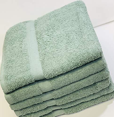CH Color Badetuch, 6 Stück - 100% Baumwolle, weich, langlebig, bequem und Badetuch, Klassische Größe 68,6 x 127 cm 27x50 inches graugrün (Badetücher 27 X 50)