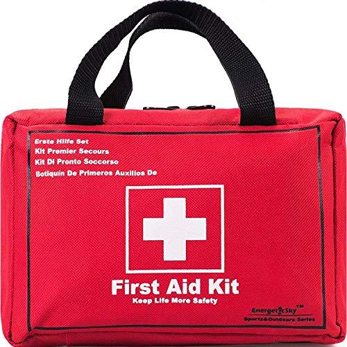 Songwin Kompakt Erste Hilfe Set mit 130 Teilen Harte Tasche-wasserdichte Mini First Aid Kit für Haus,Auto,Camping,Wandern,Sport,Arbeit,Büro,Boot,Überleben Und Reisen,Klein Und Leicht. -