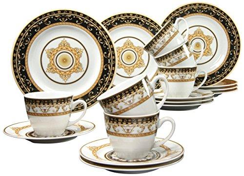 Creatable 15085, Serie Majestosa schwarz, Geschirrset Kaffeeservice 18 teilig