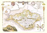 1830 Map of ISLE OF WIGHT - County Map - Thomas Moule - Reproduction (42 x 30 cm)