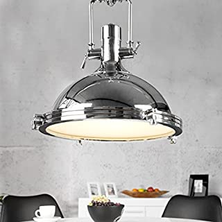 XXL Hängelampe Hängeleuchte STORELAMP Chrom 45cm Steampunk Industriallook - Designer Lampe von ambientica