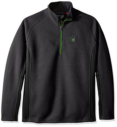 Half Zip Mikrofaser Pullover (Spyder Herren Outbound Half Zip Tailored Mid Jacke, Polar/Black/Blade, S)