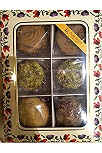 DUSK MILLER CONFECTIONERY Floral Gift Box of Cookies -350 GMS
