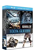 coffret 3 blu-ray disc 100% guerre : normandy / memorial day / saints and soldiers