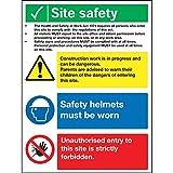 Baustellenschild, Sicherheitsschild, 400 x 300 mm