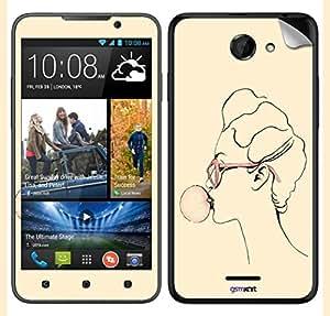 GsmKart HD516 Mobile Skin for HTC Desire 516 (Yellow, Desire 516-649)