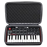 XANAD Case for AKAI MPK Mini MKII 25-Tasten Portable USB MIDI Keyboard schützende Reisetasche Shockproof