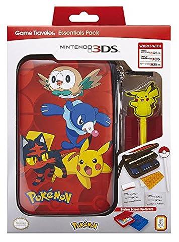 Essential Pack Pokémon 2 (versch. Motive) new 3DS/new 3DS XL/3DS XLTasche 2 Spieleleerhüllen, 1 Pokémon Stift, Touchscreen-Schutzfolien Farben: sortiert