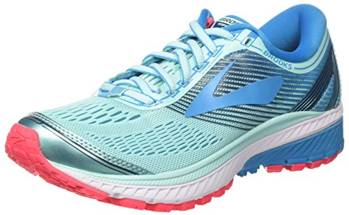 Brooks Ghost 10, Scarpe da Running Donna, Turchese (Mint/Blue/Pink 1B462), 37.5 EU