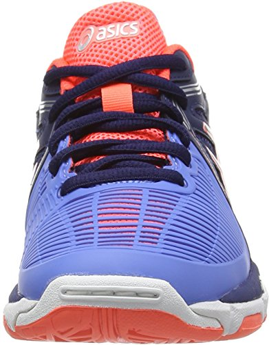 Asics Gel-netburner Ballistic, Damen Volleyballschuhe Blau (columbia Blue/silver/navy 6193)