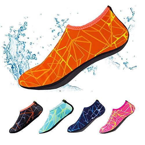 YIFEIKU Co., Ltd. Calcetines de natación, de secado rápido, antideslizantes, para deportes al aire libre, te mantiene cálido, para uso en la playa, surf, natación, para adultos y niños, Infantil Mujer Niños niña Hombre, naranja, EU:44-45