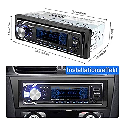 Autoradio-mit-Bluetooth-Freisprecheinrichtung-MEKUULA-1-Din-Universal-Autoradio-Eingebautes-Mikrofon-4X60W-Auto-Stereo-Radio-Ricever-USBTFFMAUXWMAWAVMP3-Media-Player-Fernbedienung