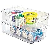 Mondex PLS275-00 Boîte de Rangement pour Réfrigérateur Plastique Transparent 37 x 21,5 x 10 cm 8 L