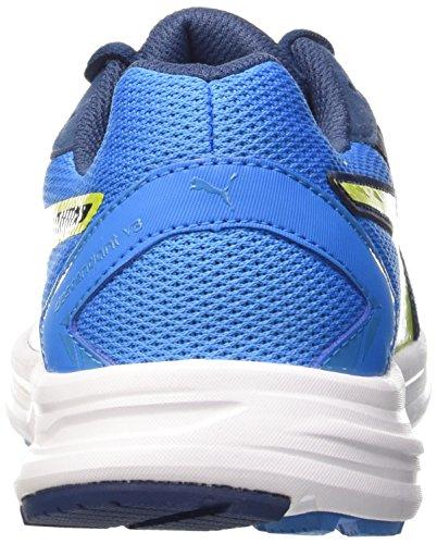 Puma Descendant V3, Chaussures de Running Entrainement Homme Cloisonne/Poseidon/Sulphur Spring
