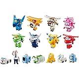 Super Wings Transform-a-Bots World Airport Crew - Serie 1 - Crew Sammelpackung - 15 Spielzeugfiguren - 5,1 cm Figuren