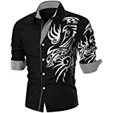 Subfamily Chemises Homme Mode T-Shirts et Polos Homme Top Chemises Casual T-Shirt Manches Longues Homme Tee Shirt