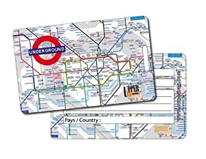 Upper Bag - Etiquette Bagage UK London Subway Map