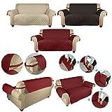 Wohl-H weinrot 2 Sitzer 167x112 cm Sesselschoner Sofaschoner Sesselüberwurf Sofa Decke aus 60g PP Baumwolle besonders für Haustier, Baby Familie