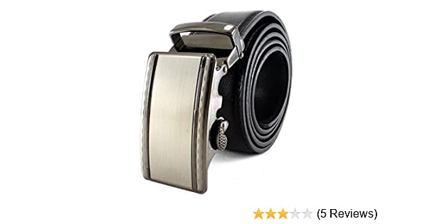 Many Styles Available Enimay Black Genuine Leather No Hole Ratchet Belt Formal