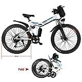 Teamyy Batterie pour Vélo Electrique Homme Pliant 26 Pouces Vitesses Jusqu'à 25 km/h avec Batterie Lithium-Bicyclette Pliable Vèlo Adulte (Batterie Seul 36V 8AH)