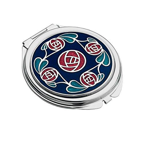 Taschenspiegel, im Mackintosh Design Ring aus Rosen. -